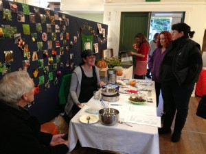 The Seedy Girls Anna Butterfield and Hannah Zwartz offered a seed swap at the Local Table